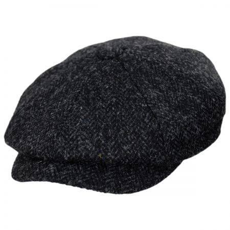 Jaxon Hats Harris Tweed Taransay Wool Newsboy Cap bfc622398b
