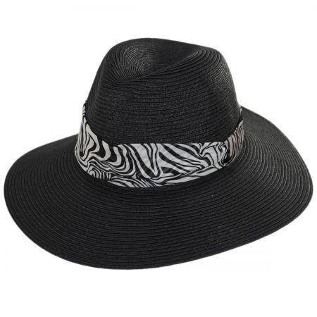 Khumba Toyo Straw Fedora Hat alternate view 1