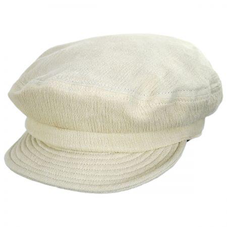 Brixton Hats Relaxed Linen Blend Packable Fiddler Cap