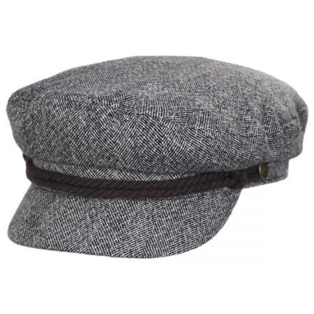 Herringbone Tweed Fiddler Cap