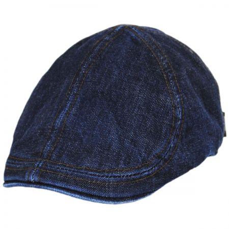Wigens Caps Vintage Denim Cotton Blend Duckbill Ivy Cap