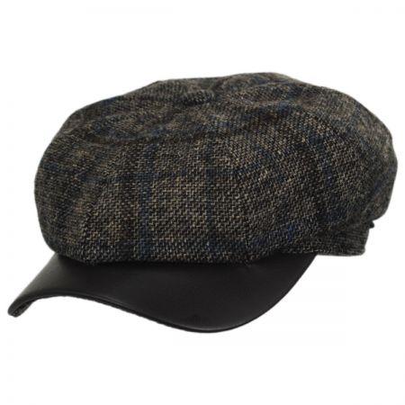 Vintage Shetland Wool Check Newsboy Cap alternate view 1
