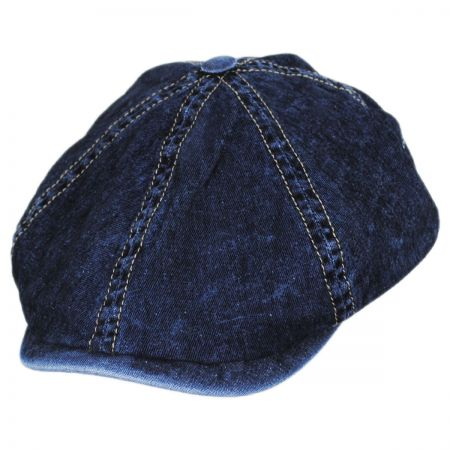 8486cd8cbddb Denim Flat Cap at Village Hat Shop