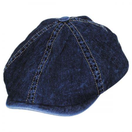 Vintage Denim Cotton Blend Newsboy Cap alternate view 9