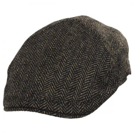 Wigens Caps Classic Shetland Wool Herringbone Duckbill Ivy Cap