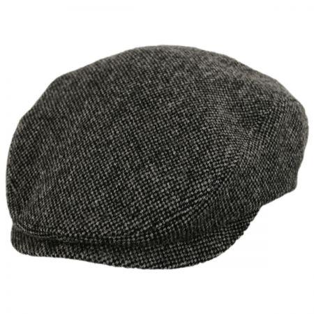 Donegal Dark Gray Shetland Earflap Wool Ivy Cap