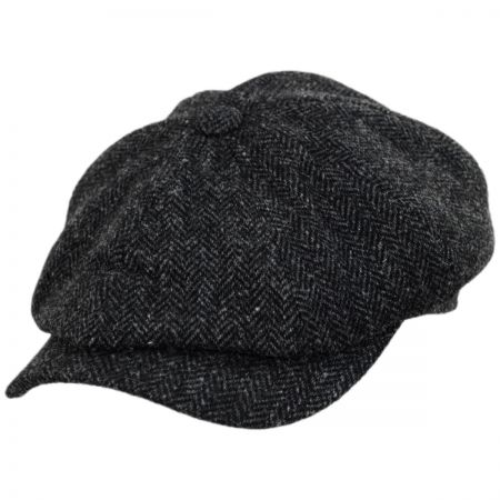 Classic Shetland Wool Herringbone Newsboy Cap alternate view 1