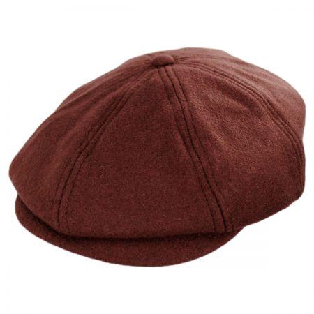 Brixton Hats Brood Solid Wool Blend Newsboy Cap