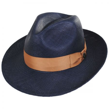 Bigalli Mikonos Grade 3 Panama Straw Fedora Hat