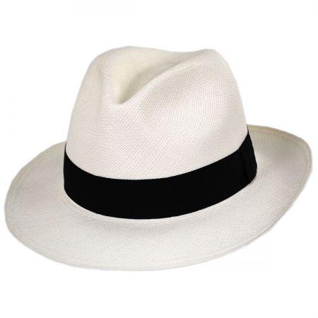 Bigalli Puerto Cayo Panama Straw Fedora Hat
