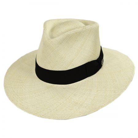 Bigalli Australian Panama Straw Fedora Hat