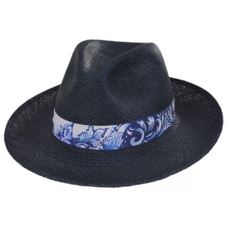 Bigalli Azul Grade 3 Panama Straw Fedora Hat