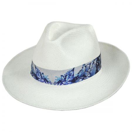 Azul Grade 3 Panama Straw Fedora Hat alternate view 13
