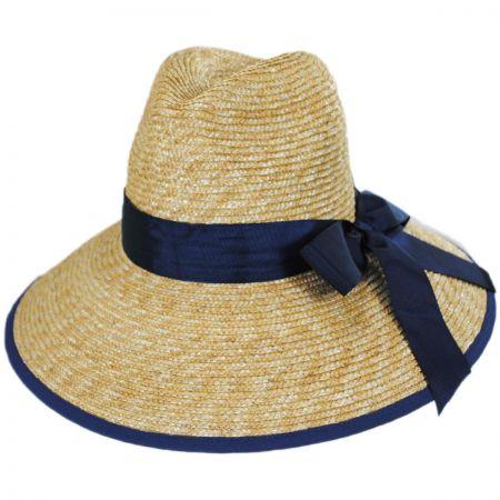 Gottex Celine Milan Straw Downbrim Fedora Hat f9ea97165