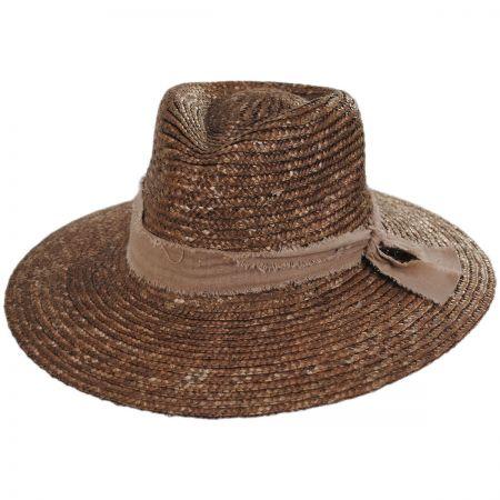 ale by Alessandra Solange Milan Straw Fedora Hat