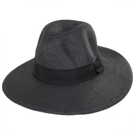 c1c539c7c21 Black Straw Trilby at Village Hat Shop