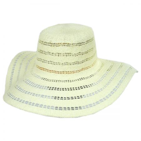 900b4260dd3 ale by Alessandra Ventana Toyo Crochet Floppy Straw Sun Hat