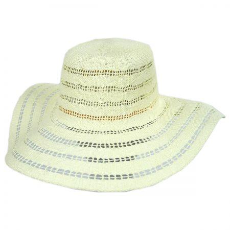 ale by Alessandra Ventana Toyo Crochet Floppy Straw Sun Hat