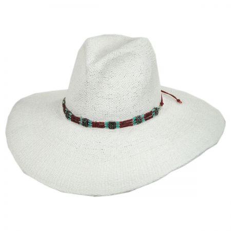 ale by Alessandra Larimar Toyo Straw Wide Brim Fedora Hat