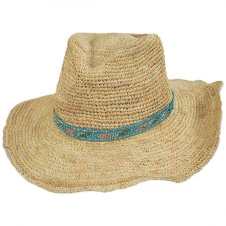 a233995740968 ale by Alessandra Renegade Raffia Straw Western Hat