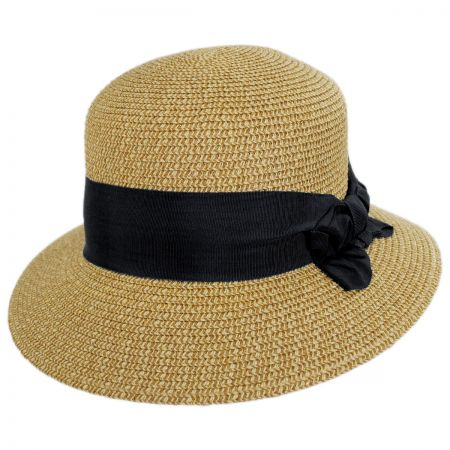 Physician Endorsed Spectator Toyo Straw Blend Cloche Hat