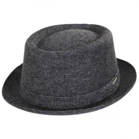 Stetson Micro Herringbone Wool Blend Pork Pie Hat