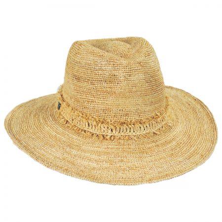 Tonga Raffia Straw Fedora Hat alternate view 1