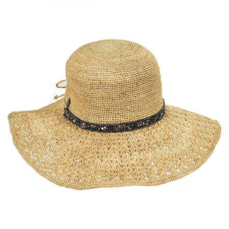 Macademia Raffia Straw Swinger Hat alternate view 1