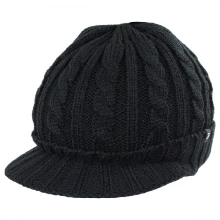 Jaxon Hats Cable Knit Visor Beanie Hat