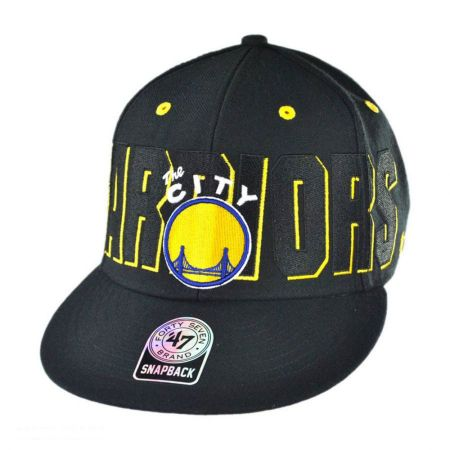 47 Brand Golden State Warriors NBA Double D Battery Snapback Baseball Cap