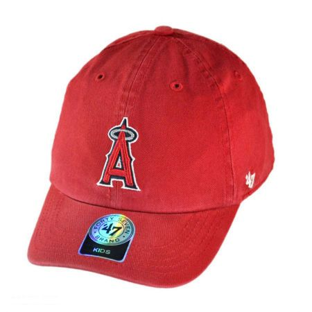 47 Brand Los Angeles Angels of Anaheim MLB Clean Up Baseball Cap - Youth