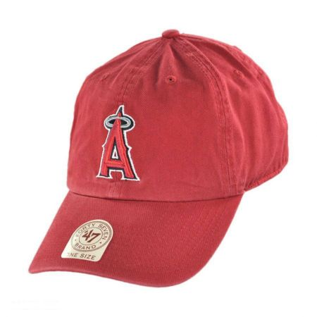 47 Brand Los Angeles Angels of Anaheim MLB Home Clean Up Strapback Baseball Cap Dad Hat