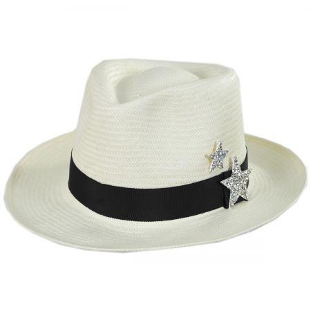 Stella Toyo Straw Fedora Hat