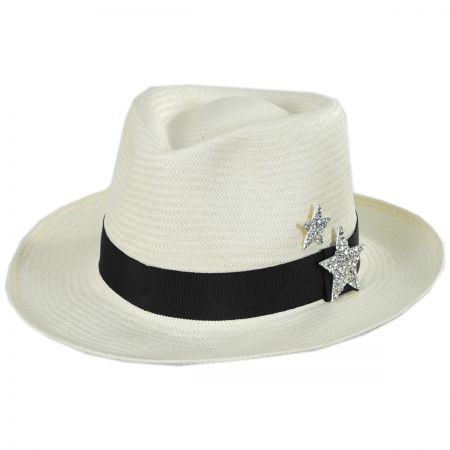 Smithsonian Stella Toyo Straw Fedora Hat
