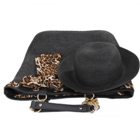 Smithsonian Serengeti Toyo Straw Bag and Hat Set