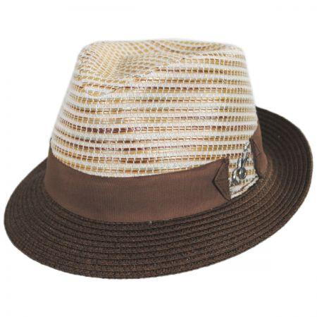 Carlos Santana Timbuktu Toyo Straw Blend Fedora Hat