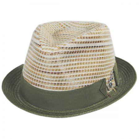 Carlos Santana Timbuktu Toyo Straw Blend Fedora Hat 2634c59a4a29