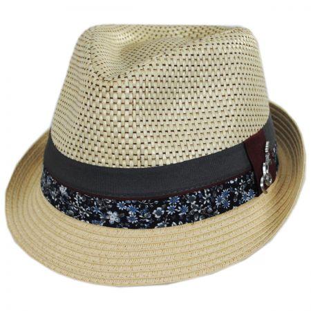 Carlos Santana Dorsey Toyo Straw Blend Fedora Hat