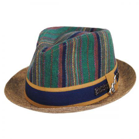 b4c65f20d7e6b Carlos Santana Coban Cotton Blend Fedora Hat