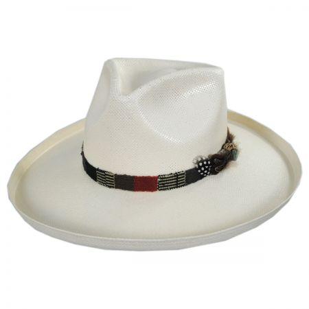 Carlos Santana Sumatra Shantung Straw Fedora Hat