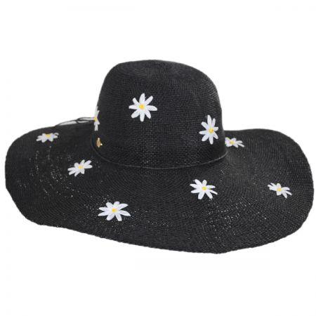 Carolina Daisy Toyo Straw Floppy Hat alternate view 1