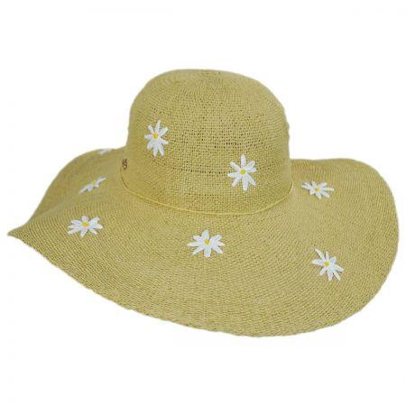 71de493f715 Cappelli Straworld Carolina Daisy Toyo Straw Floppy Hat