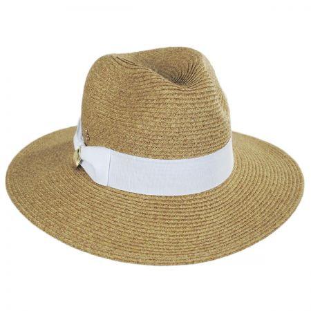 436b22f0bb942a White Fedora With Black Band at Village Hat Shop