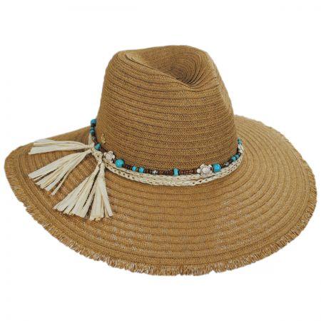 Pompano Toyo Straw Blend Fedora Hat alternate view 5