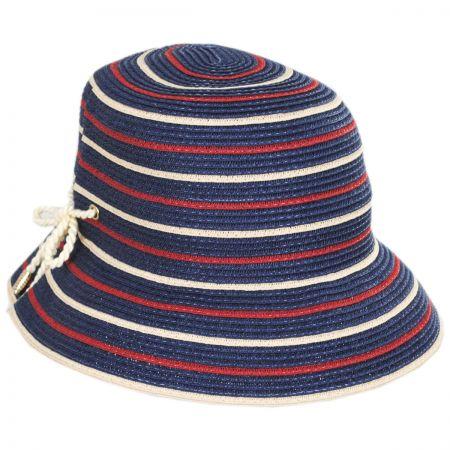 Sebastin Toyo Straw Blend Cloche Hat alternate view 5