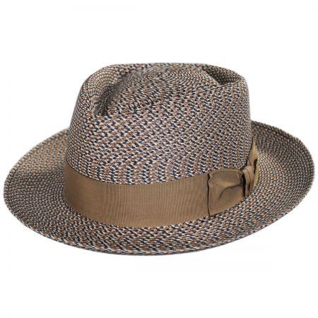Stetson Daddy-O Milan Straw Fedora Hat
