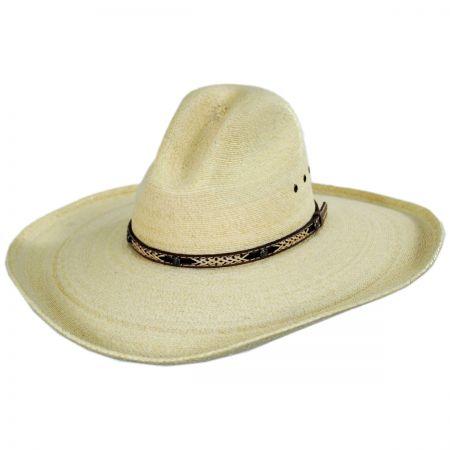 Gladstone Gus Palm Straw Western Hat