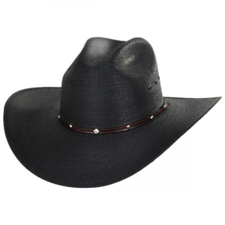 Blaze Cattleman Palm Straw Western Hat alternate view 1