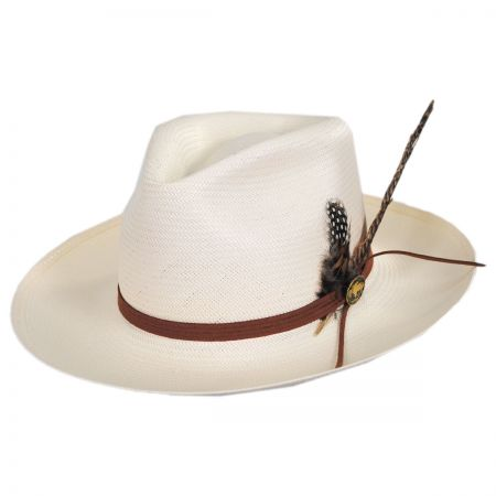 d40e61ac1bbad Stetson Tallahassee Shantung Straw Fedora Hat