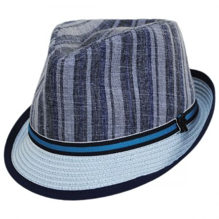 Inglewood Toyo Straw Blend Fedora Hat alternate view 1